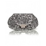 Silver evening bag